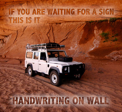 The handwriting is on the wall - David J. Abbott M.D. - If you are waiting for a sign, this is it.